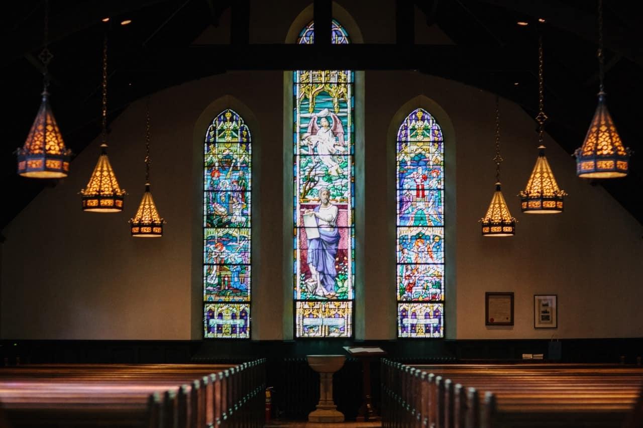 Photo of a church sanctuary