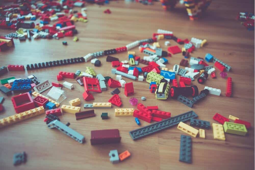 Image of lego blocks strewn on floor