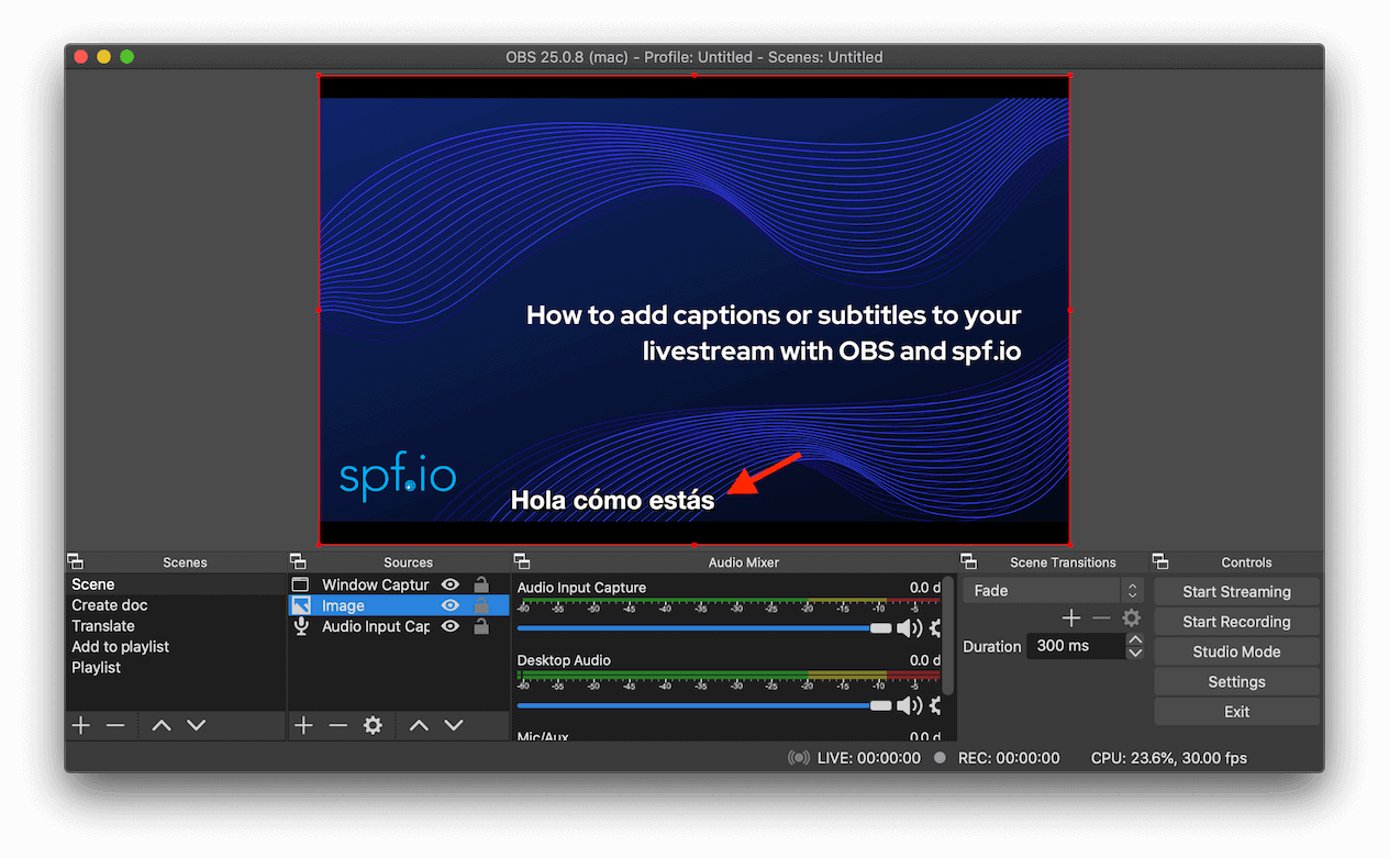 How To Add Captions Or Subtitles To Your Livestream With Obs And Spf Io Spf Io