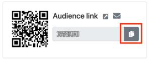 Custom audience link from spf.io