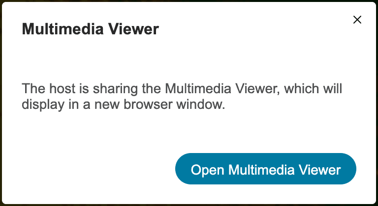 Open Multimedia Viewer in WebEx
