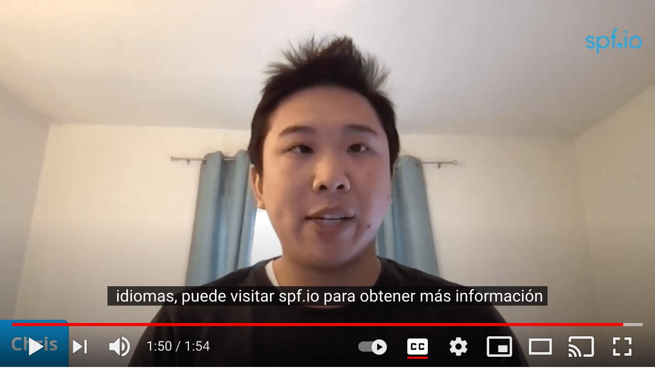 English to Spanish subtitles for YouTube