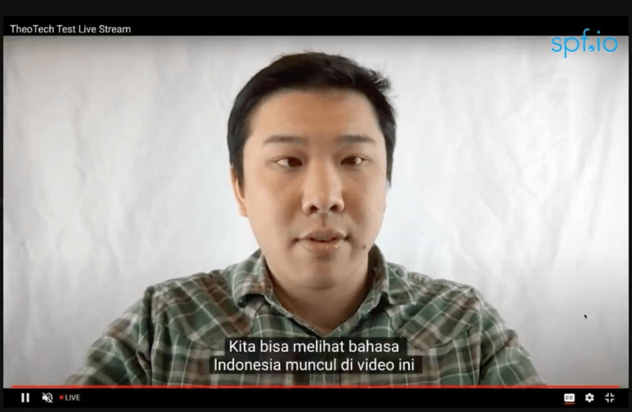 Subtitles for Youtube Live - Indonesian translation