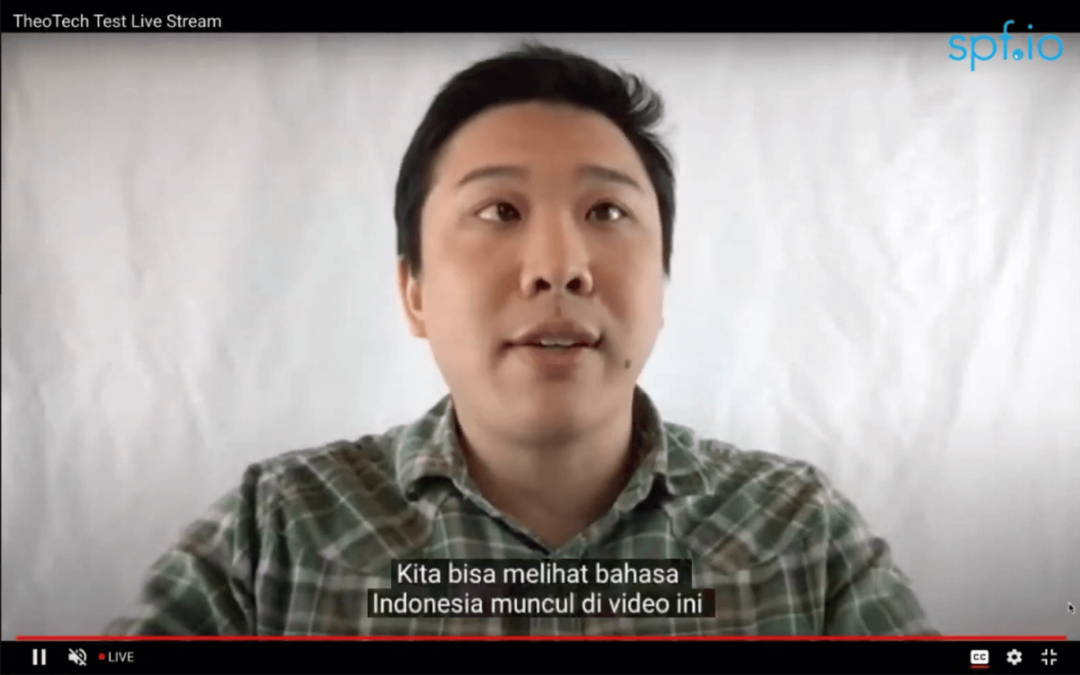 Bilingual YouTube Live subtitles with spf.io's Language Switcher